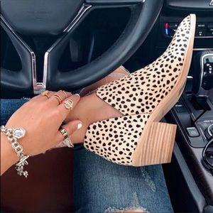 Cupid cheetah ankle booties 8 NWOB